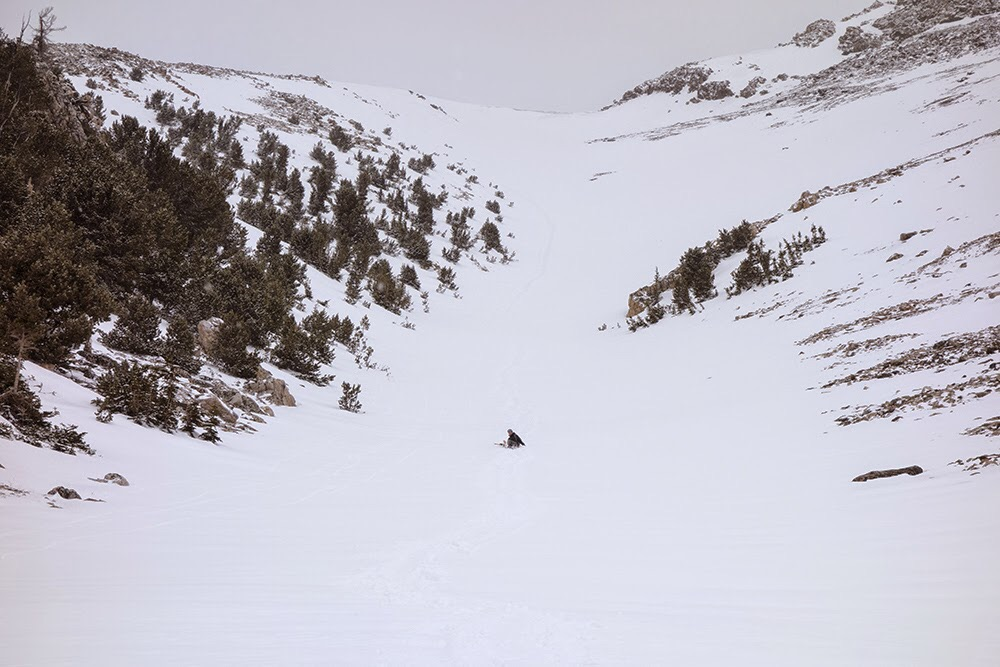 Sliding down the peak. Larry Prescott Photo