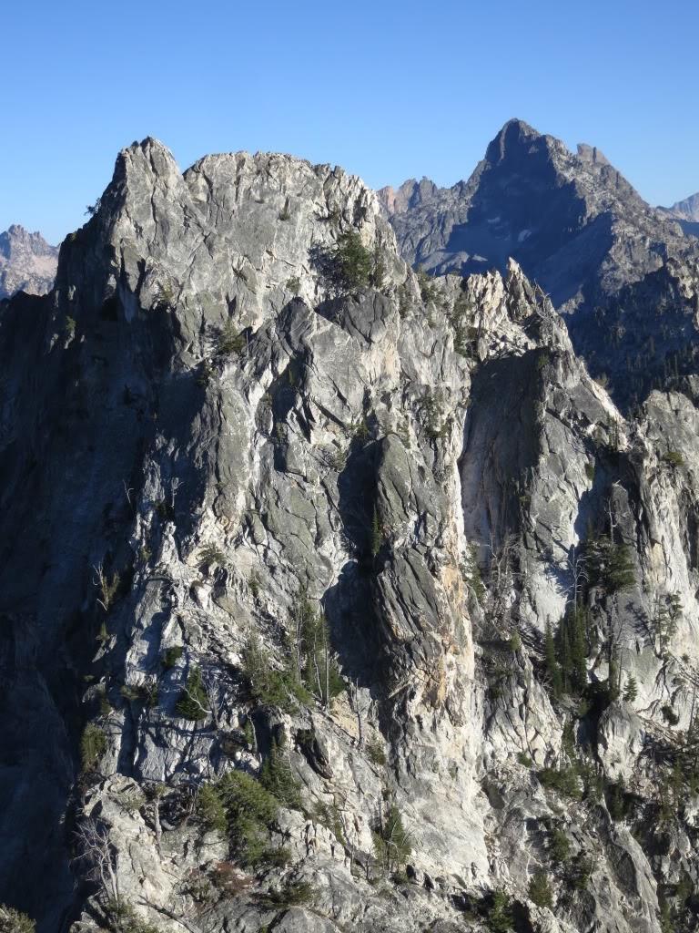 Grandjean Peak's Point 9144 viewed from Peak 9180+ East with Tohobit Peak in the background. Sean Duffy Photo