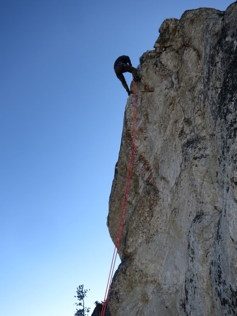 Rappelling a portion of the route. Sean Duffy Photo