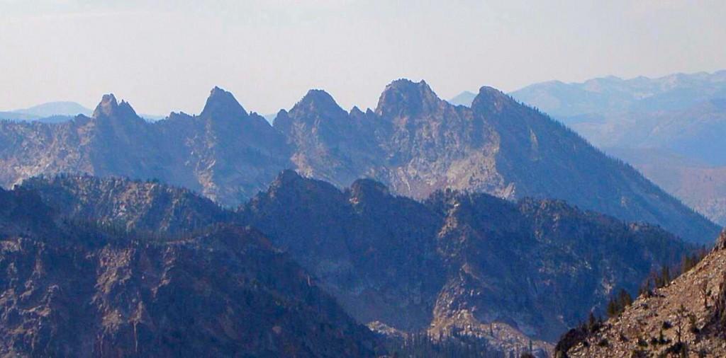Grandjean Peak from near Merritt Peak. Ralph Shelton Photo