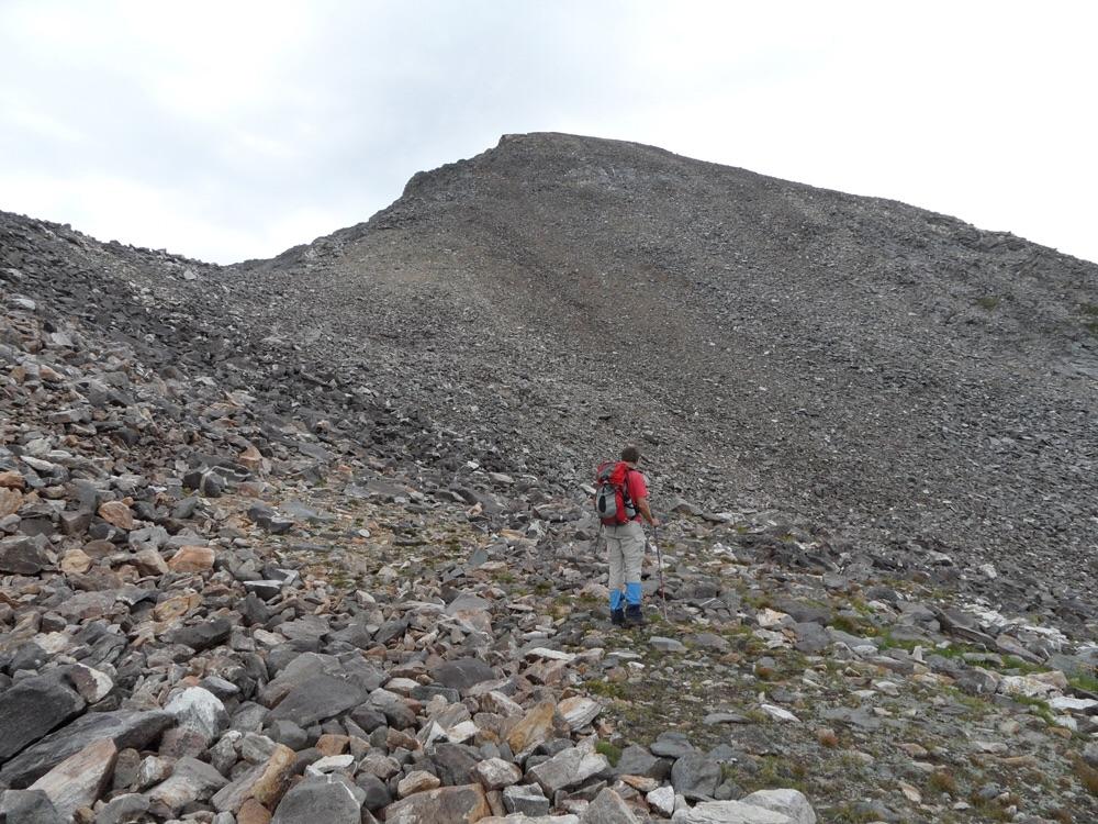 The last bit to the summit. John Platt Photo