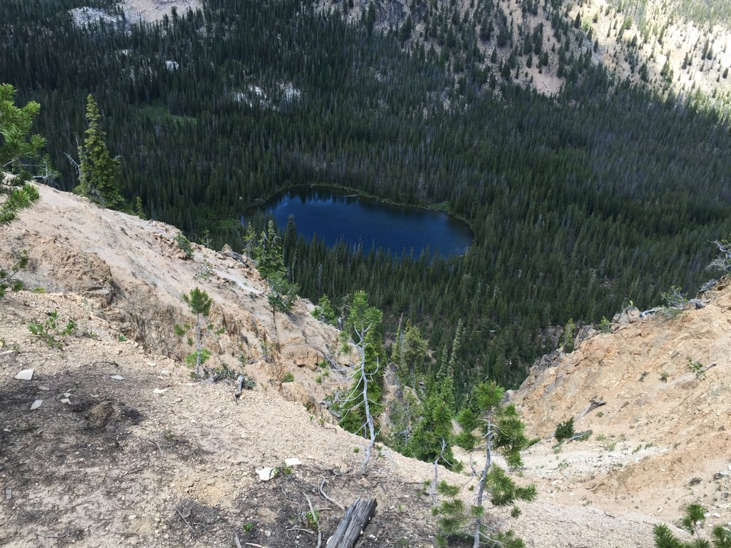 This is the second unnamed lake nested along the north side of the east ridge.