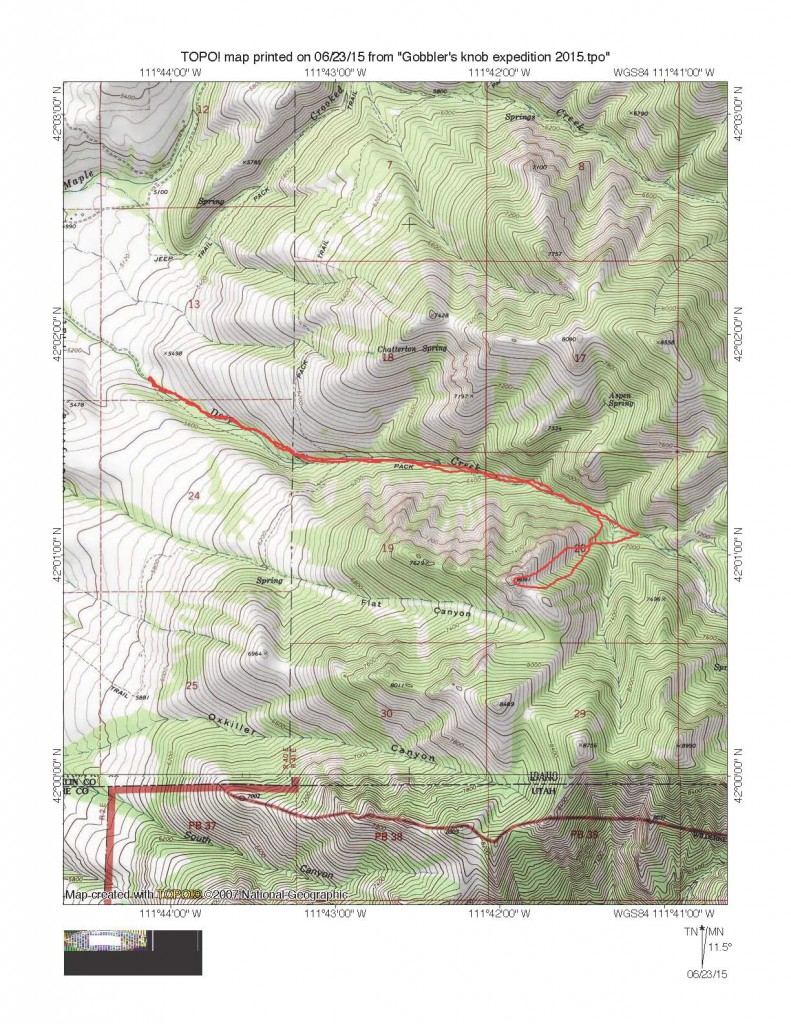 Russ Durrant's Class 3 route map.