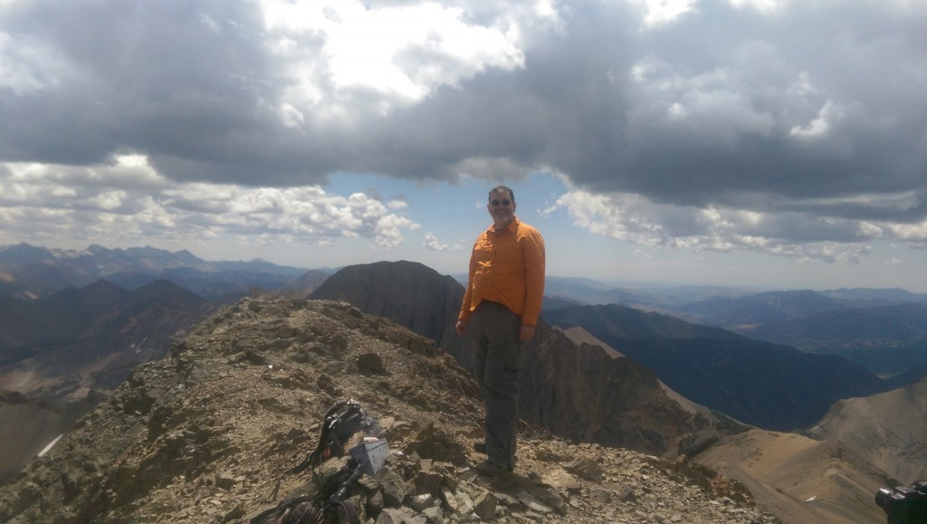 Ken Jones on the summit of Ryan Peak 2015.