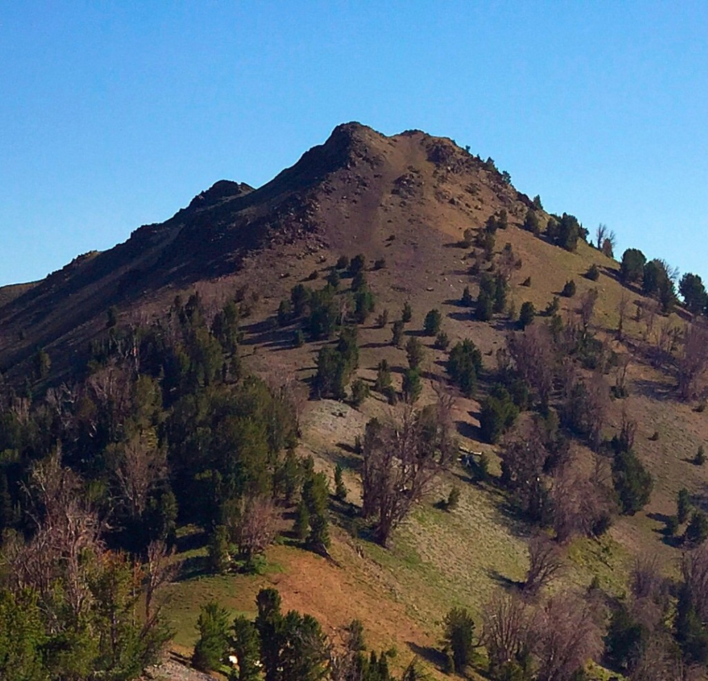 A closer view of Peak 10356's south ridge.
