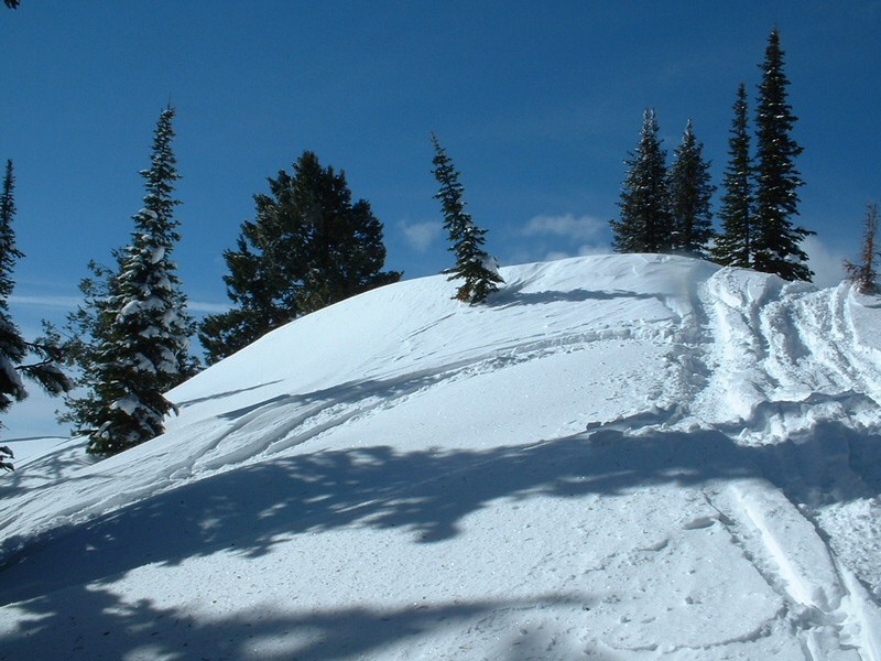 The summit of Freeman Peak is a popular destination for snowmobile enthusiast. Dan Robbins Photo