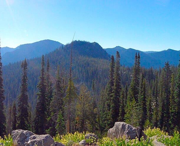 Maki Peak viewed from the west. John Platt Photo