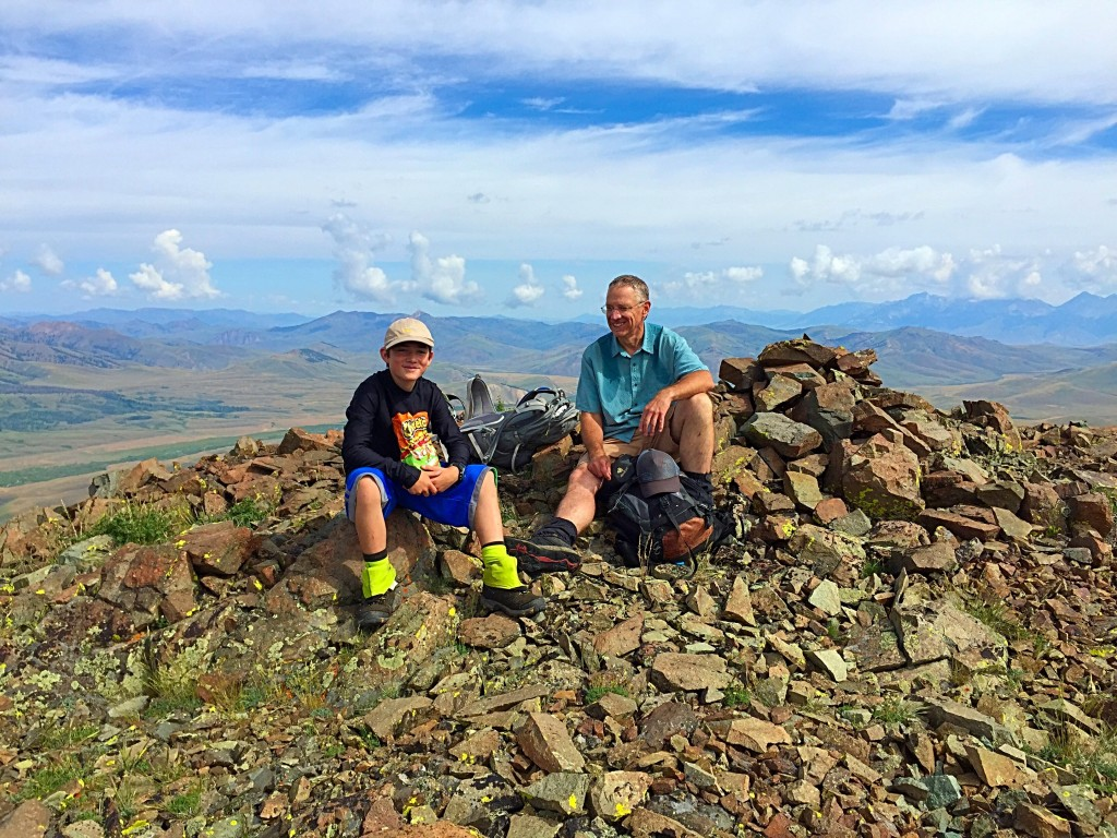 Larry and Ben Prescott on the summit. July 8, 2015