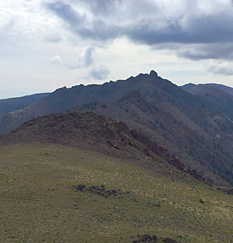 Another view that f Copper Basin Knob from the summit of Roundup Peak.