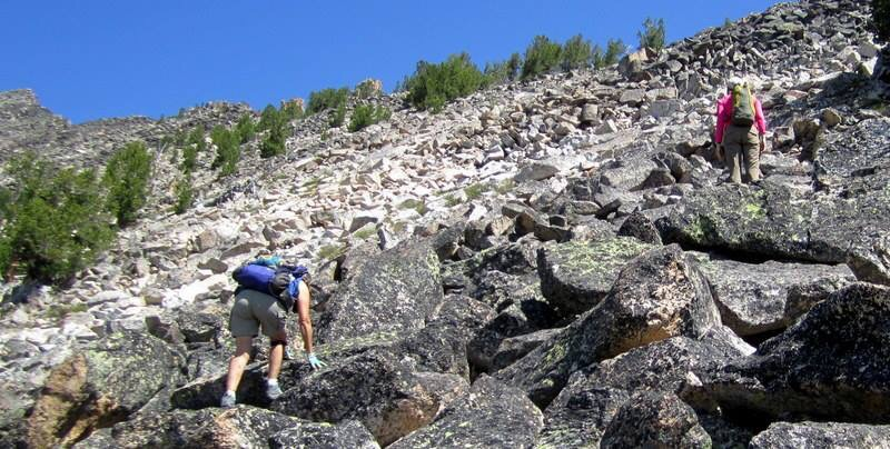 Starting up the ridge. Deb Rose Photo