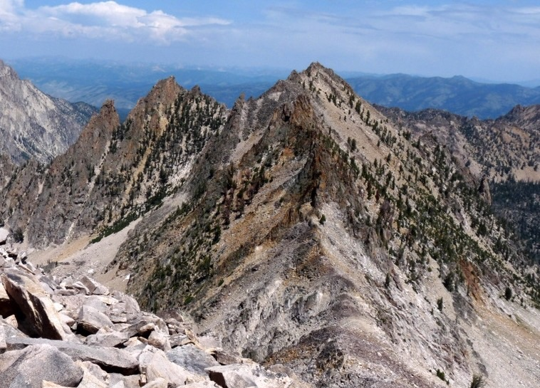 Peak 10220 viewed from Redfish Peak. Dan Robbins Photo
