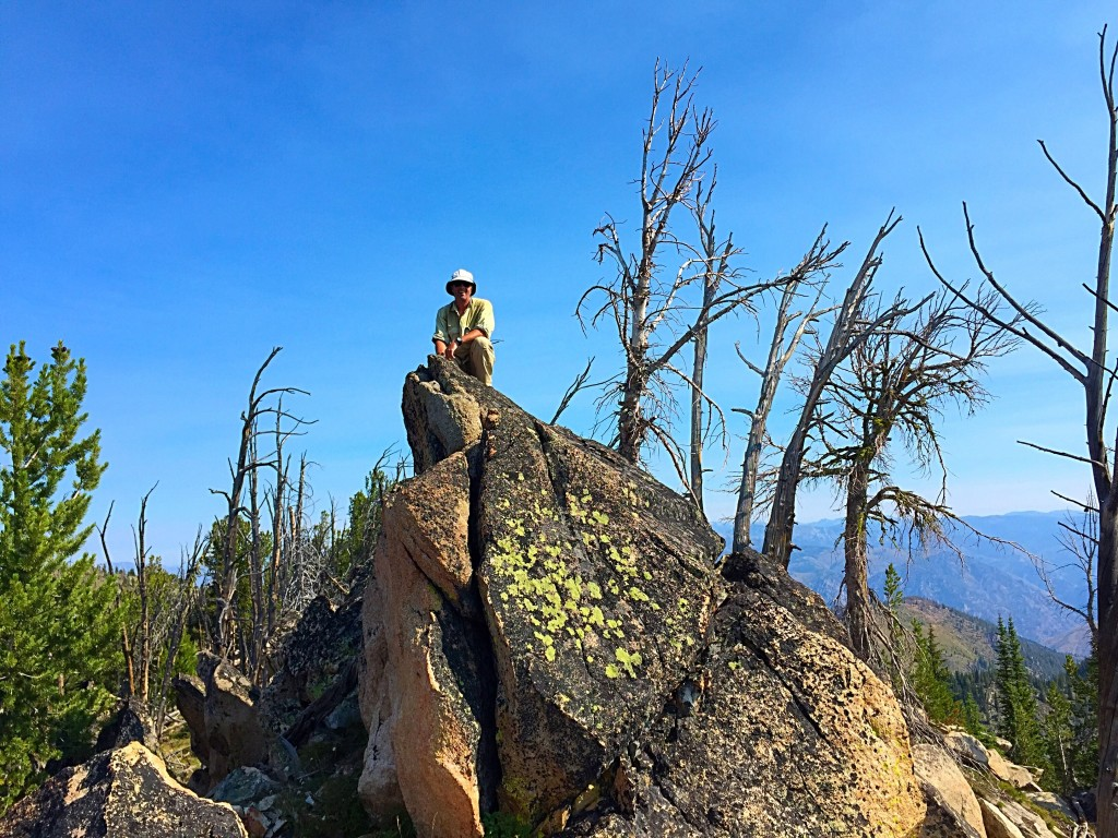 John Platt on the summit block. 2015