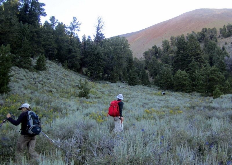 Starting up the route. Deb Rose Photo