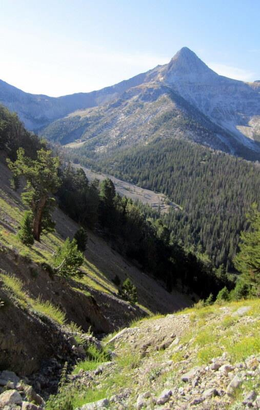 Looking down the line of ascent. Deb Rose Photo