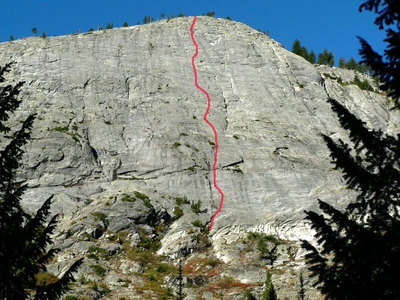 This route line for the Slippery Slope Route was drawn by John Platt. John Platt Photo