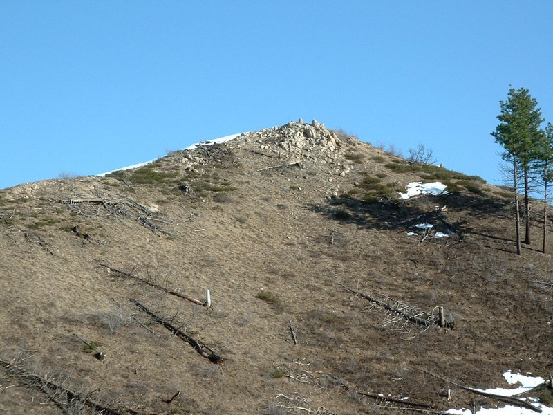 This small peak is a short hike from the nearest road. Dan Robbins Photo.