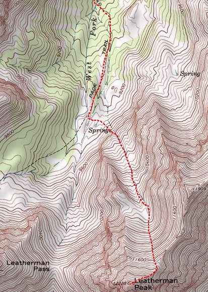 The Northeast Ridge route. Track - Dan Robbins.