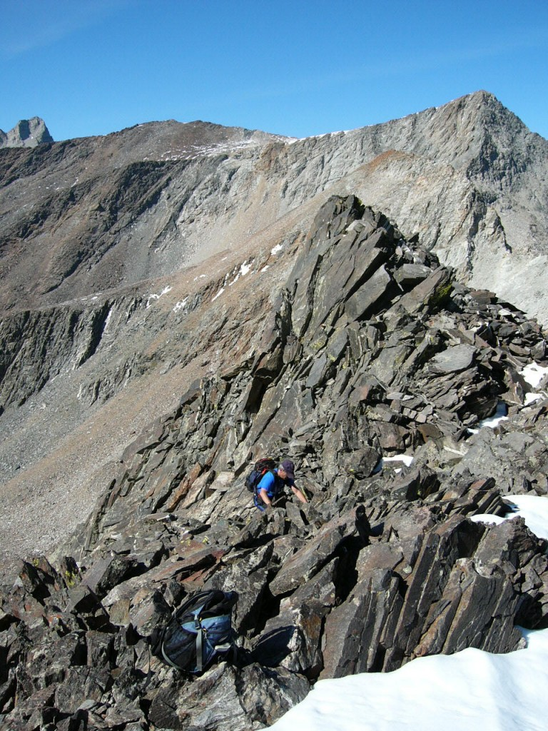 Working the ridge.