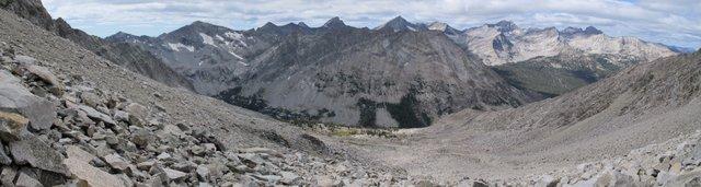 Pioneer vista from the slopes of Brocky Peak.