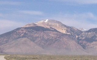 Buckhorn Peak from the junction of the Pashimeroi highway and the North Creek Road.